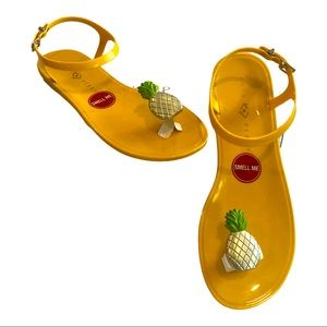 Katy Perry's Pineapple 🍍 Geli Sandals Sz 9M NIB
